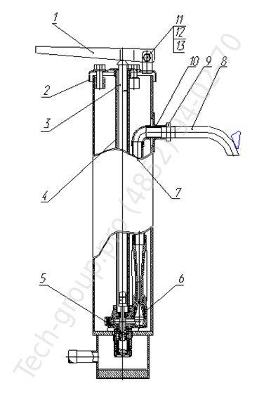 Схема строения водоразборной